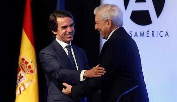 """Aznar: 'El de Vargas Llosa es un compromiso con la razón al servicio de la libertad"""""""