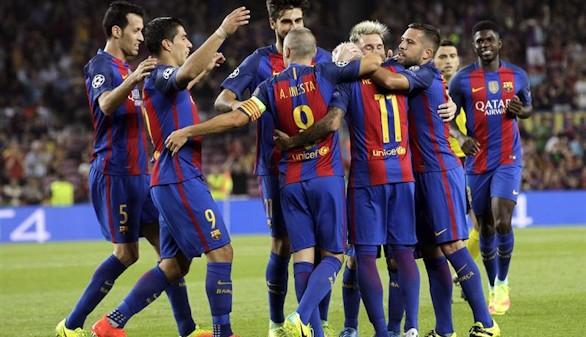 Festín del Barcelona en su estreno en Champions  7-0