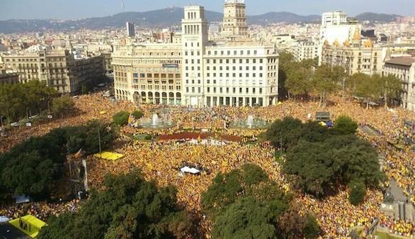 Manifestación contra Mas y en pro de la unidad en la independencia