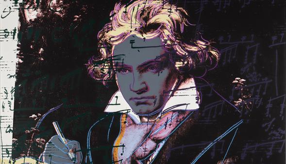 Beethoven, según Warhol: el compositor convertido en estrella de rock, a subasta