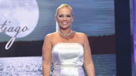 Traje de novia que Belén Esteban lució en la segunda edición de 'Sálvame Fashion Week'.
