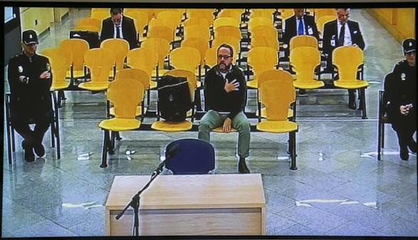 'El Bigotes', durante una sesión del juicio por la trama Gürtel celebrada este lunes.