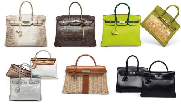 Una selección de los bolsos de Hermès que saldrán a subastá el 9 de marzo en París. Foto: Christie's