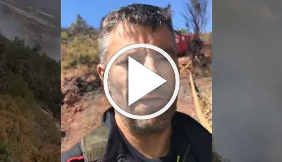 Vídeos virales. Mensaje desde el incendio de la Sierra Calderona