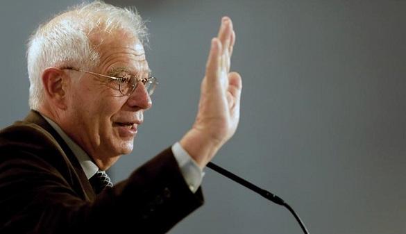El expresidente del Parlamento Europeo Josep Borrell, durante su intervención en el acto electoral del PSC.