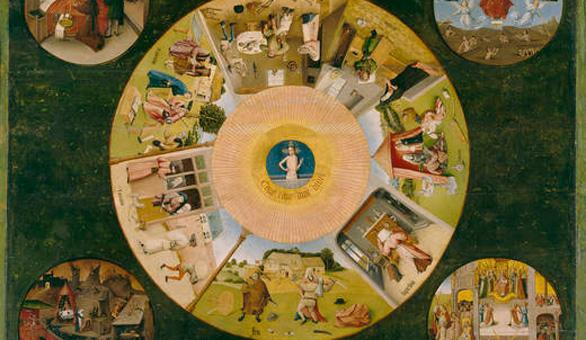 Mesa de los pecados capitales el bosco del museo del - La mesa de los pecados capitales ...