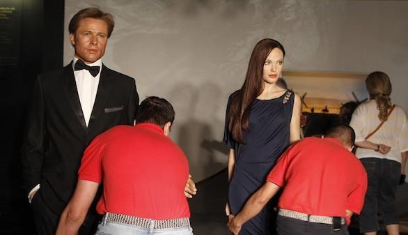 Los museos de cera también separan a Brad Pitt y Angelina Jolie