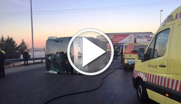 El conductor del autobús escolar accidentado en Fuenlabrada da positivo por cocaína