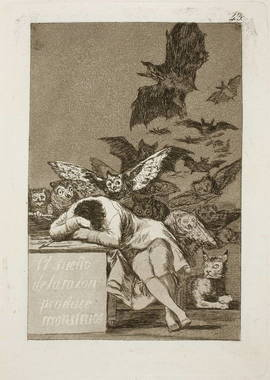El sueño de la razón produce monstruos. 1797-99. Serie 'Caprichos'. Foto: Museo del Prado