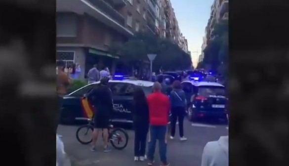 La Policía impide en Madrid una protesta contra el Gobierno