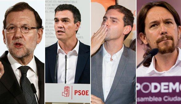 Día de reflexión: Rajoy en Moncloa, Sánchez e Iglesias verán Star Wars y Rivera con la familia