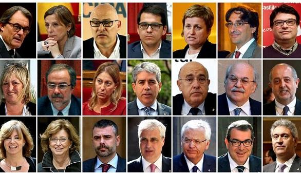 Los 21 cargos catalanes en el punto de mira del Tribunal Constitucional