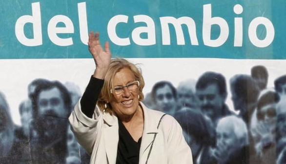 Carmena, convencida de que será la alcaldesa de Madrid
