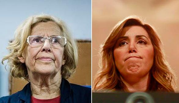 Carmena será alcaldesa en Madrid y Díaz toma posesión en Andalucía