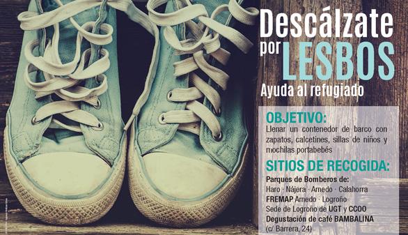 'Descálzate por Lesbos' ya ha conseguido 15.000 euros y 25.000 zapatos