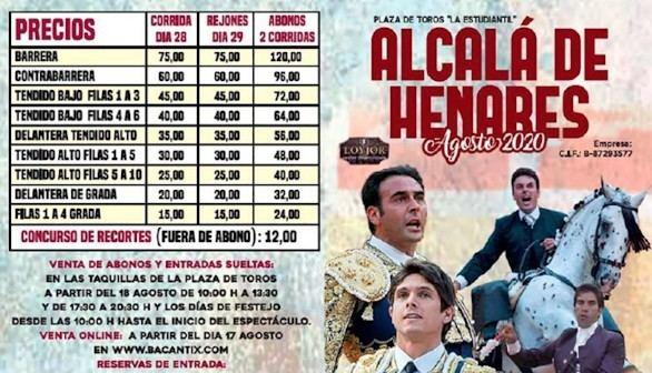 Suspenden los festejos taurinos en Alcalá de Henares para evitar contagios