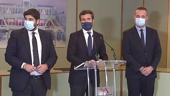 El PP gana en Murcia y provoca la desbandada de senadores y diputados de Ciudadanos