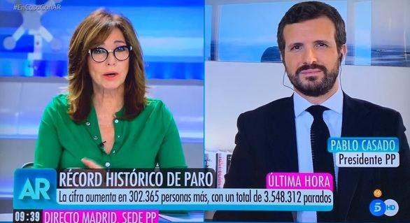 Casado, a pesar de la crisis: 'Sánchez no me ha llamado desde hace once días'