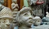 Piezas recuperadas en Iraq en una fotografía difundida por la Unesco.
