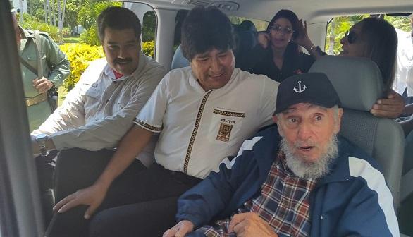 Castro se rodea de Maduro y Morales en la víspera de la histórica visita de Kerry