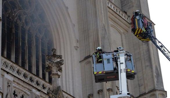 En libertad sin cargos el detenido por el incendio de la catedral de Nantes