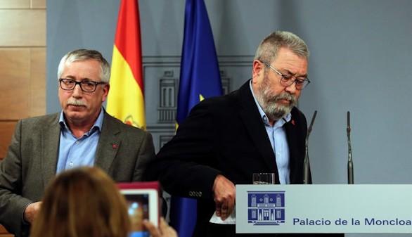 CCOO y UGT piden que las Cortes sean la vía que reconduzca el independentismo