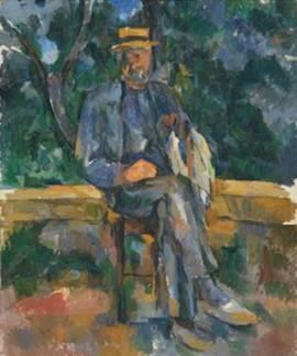 'Retrato de un campesino' de Cézanne, obra expuesta en 'Cézanne site / non site' en el Museo Thyssen