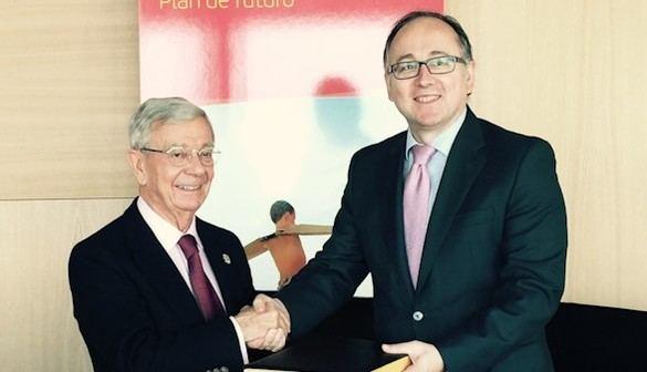 Rafael Ansón y Luis Gallego, presidente de Iberia.