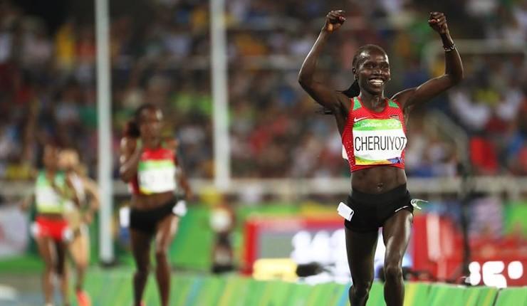 Cheruiyot y Kenia destronan a Ayana en el 5.000 con récord olímpico