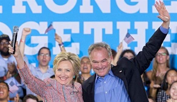 Tim Kaine será el 'número dos' de Hillary Clinton