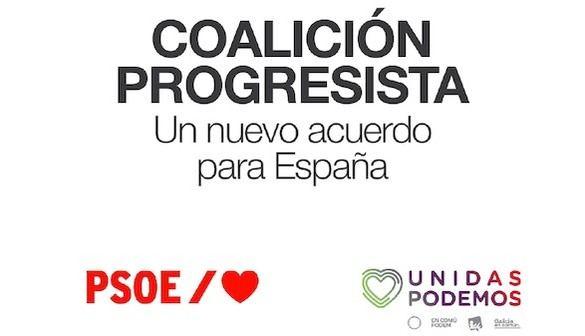 Lea aquí íntegro el acuerdo de coalición entre el PSOE y Podemos