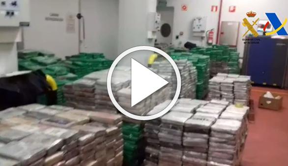 Incautado en Algeciras el mayor alijo de cocaína de los últimos 18 años