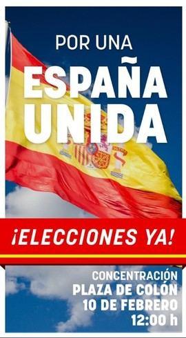 Manifestación del PP y Cs el domingo para decir 'basta' a Sánchez