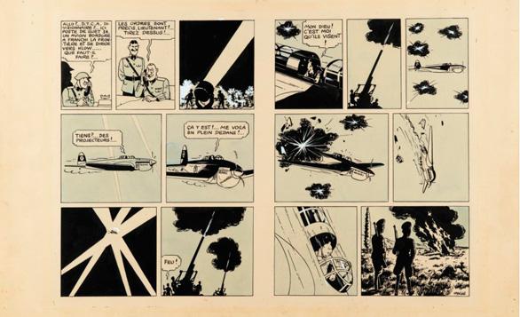 Récord para una doble plancha original de un álbum de Tintin