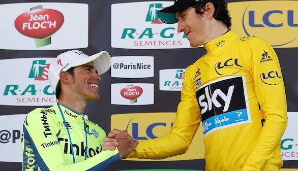 Contador se queda a cuatro segundos de conquistar la París-Niza