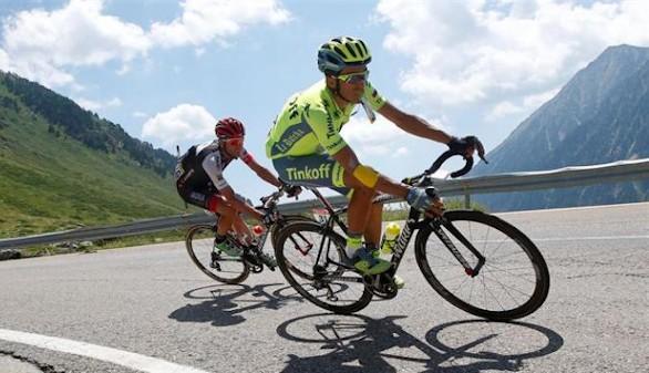 Contador calienta para la Vuelta y gana en Burgos por un segundo de ventaja