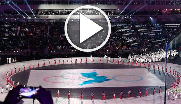 JJ.OO. de invierno. Arranca el evento que teatraliza el deshielo de las dos Coreas