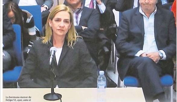 La Infanta Cristina, a juicio por presunto delito fiscal en el caso Nóos