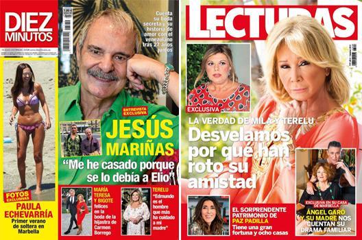 Crónica rosa. Boda sorpresa de Jesús Mariñas con su novio venezolano