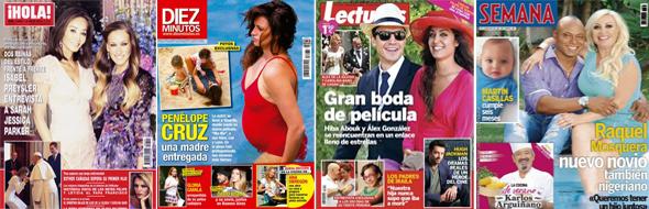 Esther Cañadas, embarazada, y Penélope Cruz ejerce de madre