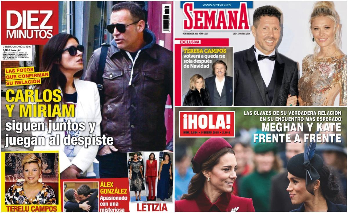 Miriam Saavedra y Carlos Lozano siguen juntos y Simeone se casa