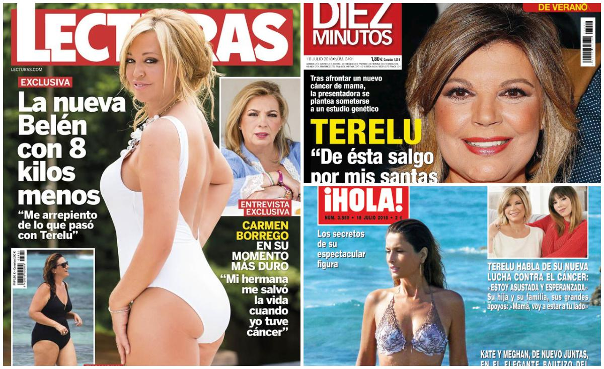 Belén Esteban posa con ocho kilos menos y Terelu se sincera sobre su enfermedad
