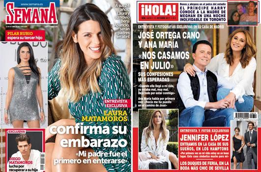 Crónica rosa. Laura Matamoros y Pilar Rubio, embarazadas