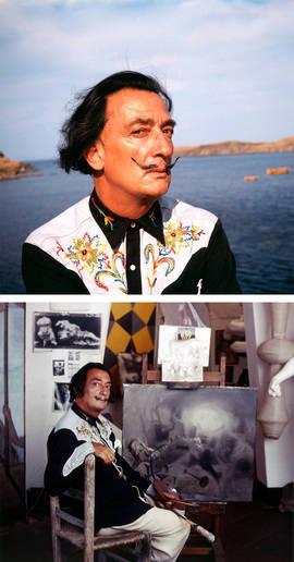 Salvador Dalí en Portlligat, 1961. © Jan Adam Stevens