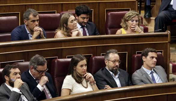 C's echa de menos una llamada de atención a la abstención del PSOE