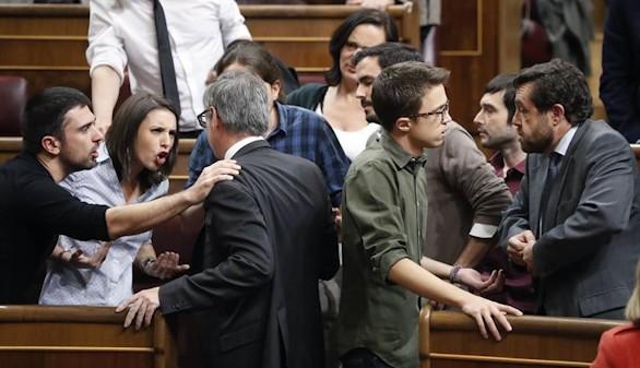 Unidos Podemos-C's: la otra bronca que alteró el debate