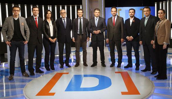 Nueve partidos participan en el debate más plural
