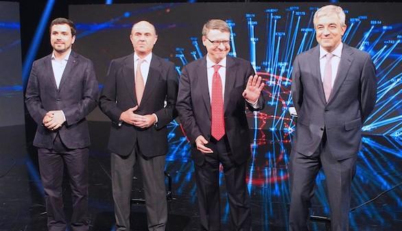 De Guindos desmonta a Sevilla, Garicano y Garzón en el debate económico