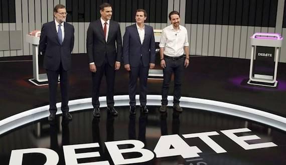 Así le contamos en directo el debate a cuatro entre los candidatos