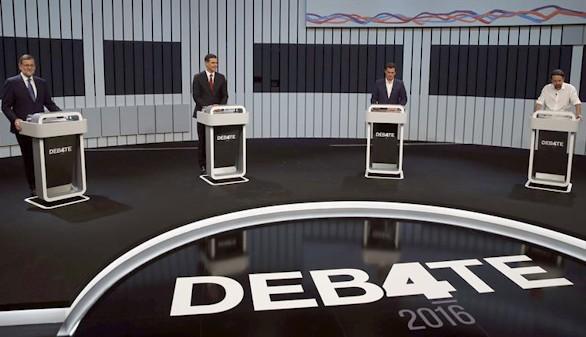 Los cuatro candidatos declaran que han ganado el debate